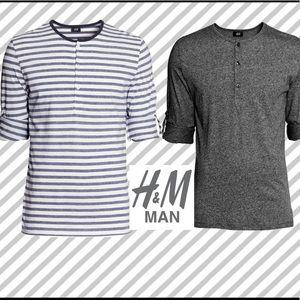 100% Cotton Jersey Henley Shirt Bundle